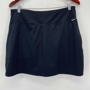 Eddie Bauer Black Knit Built in Shorts Skort Skirt